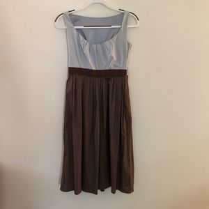 Light blue and brown dress